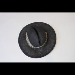 Black wicker hat